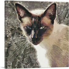 Artcanvas Snowshoe Cat Breed Brown Canvas Art Print