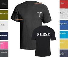 Nurse T-Shirt Emergency Medical Services Service Shirt Two Sides Print SZ S-5XL