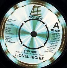 "LIONEL RICHIE you are 7"" WS EX/ uk motown TMG 1290"