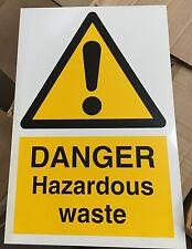 Warning Sign - DANGER Hazardous waste - 300x200mm Safety Signs