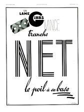 Publicité ancienne Gibbs tranche net 1938 A. Pouprou issue de magazine