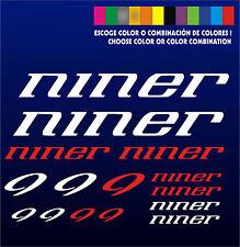 KIT - PEGATINAS - STICKERS - VINILO -LAMINA-PACK- BICICLETA - BIKE - NINER - MTB