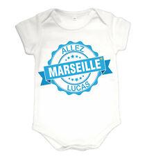Body bébé foot marseille supporter personnalisé prénom au choix réf 80