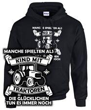 GLÜCKLICHER Bauer Landwirt Kind Traktor Trekker Spruch lustig SWEATSHIRT