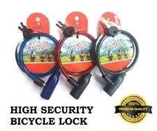 Oxford Bicycle Bike Cycle Coil Hoop Loop Spiral Cable Lock Red 1.8m x 12mm
