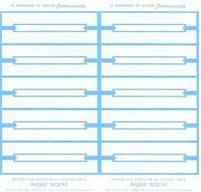 Juke Box Title Strips 10 Sheets Blue On White Paper