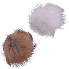 13cm Pelzball Echter Waschbär Fell Pelz Ball Fluffy Pom Mantel Tasche Schuh Hut
