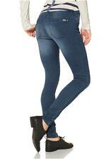 Only Jeans Royal NEU Gr.XS,S,M,L,XL Hose L32 Röhre Damen Stretch Blue Used Denim
