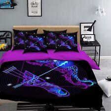 3D Shooter 747 Bed Pillowcases Quilt Duvet Cover Set Single Queen UK Carly