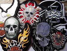 6899 Rockabilly Sugar Skull Head Greaser Rocker Guy Sew Iron On Patch Badge NEW