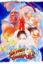 Street Fighter 2 Retro Game Poster |4 Sizes|#2 MAME Arcade Snes Sega PS4 xbox Pi