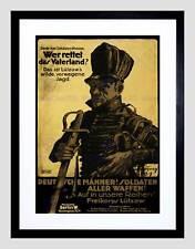 Político militar defender patria soldado Alemania impresión arte enmarcado B12X11123