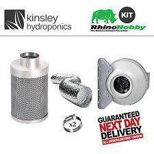 Rhino Hobby Filter Kit Rvk Fan Extraction 5M Aluminium Ducting Clips Hydroponics