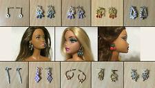 Barbie Doll Fashionistas My Scene Fashion Fever Model Earrings Jewelry - CHOOSE
