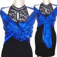 Stola CERIMONIA elegante blu elettrico coprispalle scialle elegante art. D0241