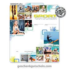 Hochwertiger Multicolorgutschein für Sport Sportstätten Bewegung Fitness SP236