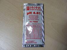 Hanna Medidor De Ph Buffer Calibración solución Bolsita 4.01 Ph-Hola 70004 / hi-70004