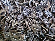 11mm x 8mm 15mm x 10mm Aged Silver Filigree Flower Diamond Metal Buttons XM65A-B