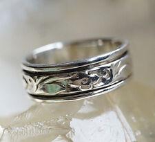 Drehring 58 61 64 65 Silberring Spinring Verspielt Muster Silber Floral Ring