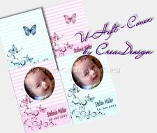 Set Impfpass u. Untersuchungsheft U-Heft Hülle Taufe Geburt  Schmetterling