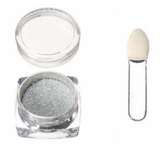Magic Mirror Effect Nail Powder Silver DIY Chrome Dust Shine Nail Art Design UK
