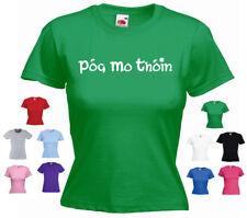 'Pog mo Thoin' (Kiss my Arse) St Patricks Day / St. Patrick's Day Ladies T-shirt