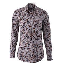 DOLCE & GABBANA GOLD RUNWAY Hemd mit Spielkarten Print Beige Braun Shirt 04800