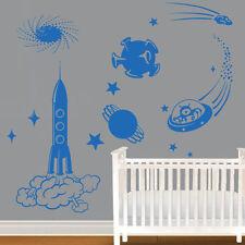 Sticker Planche Espace, Fusée, Extra Terrestres, Planète, XXL, Géant (ESPA001)