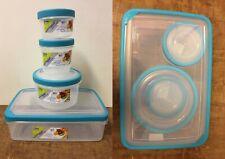 4Pc Nested Stockage des aliments Lock couvercles pots Conteneurs en plastique or...