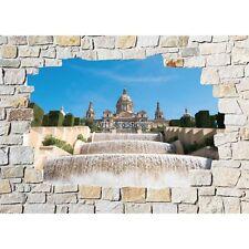 Stickers mural mur de pierre Fontaines 8512