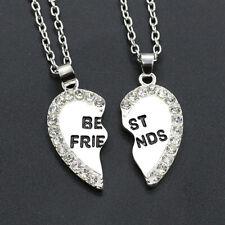 2pcs/set Women Men Heart Best Friend Alloy Electroplate Jewelry Letter Necklaces