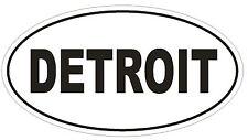 DETROIT City Code Oval Bumper Sticker or Helmet Sticker D952 Michigan
