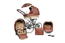 Baby Pram Stroller Buggy Pushchair Classic Retro 3in1 Travel system car seat 17!