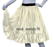 Cream Satin 3 Layer Short skirt Belly Dance costume casual skirt Sexy Dress S62
