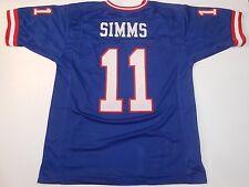 UNSIGNED CUSTOM Sewn Stitched Phil Simms Blue Jersey - M, L, XL, 2XL