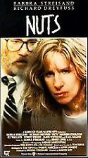 Nuts [VHS] Barbra Streisand, Richard Dreyfuss, Maureen Stapleton, Karl Malden,