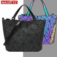 Womens Holographic Handbag Diamond Geometric Tote Shoulder Bag Laser Luminous