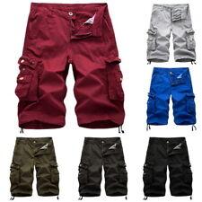 Men's Stylish Cotton Loose Pants Cargo Shorts Casual Beach  Short Pants