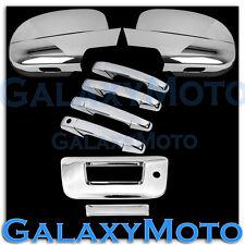 07-12 GMC Sierra Chrome Full Mirror+4 Door Handle+Tailgate w/KH no Camera Cover