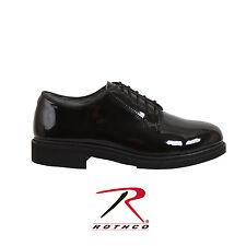 Rothco 5055 Uniform Hi-Gloss Oxford Dress Shoe - Black