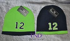 SEATTLE SEAHAWKS NUMBER 12 #12 FAN KNIT BEANIE HAT CAP BLUE AND GREEN