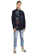 Desigual Blue Denim Walt Shirt Mickey Mouse Retro XS-XXL UK 8-18 RRP£84