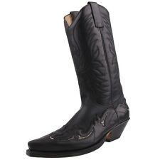 NUEVO SENDRA BOTAS vaqueras Botas de Cowboy Pitón 3242 Negro