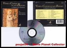 VEPRES & COMPLIES DE St BERNARD Abbaye Fontenay(CD)1993