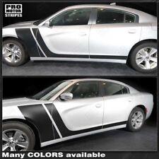 Dodge Charger 2011-2017 Front to Rocker Side Stripes Decals (Choose Color)