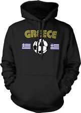 Greece Greek National Country Pride Ethniki Ellados Soccer Hoodie Pullover