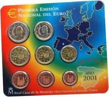 manueduc  ESPAÑA 2001  BLISTER OFICIAL FNMT EUROSET  NUEVO