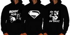 Superman training workout hoody Sweatshirt Gym Wear bodybuilding top hoodie