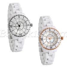 Women's Arabic Numbers Dial Ceramic Strap Bracelet Precious Quartz Wrist Watch