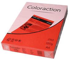 160 GSM A4 Coloraction CARTA COLORATA x risme di 250 Fogli-Cile rosso intenso